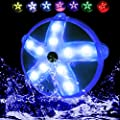 """NinoStar Starfish Submersible LED Pool Lights IP68 Waterproof 7 Colorful 3.3"""" with Suction Cup, Magnet, Underwater Light for Bathtub Aquarium Pond Jacuzzi Party Fountain"""