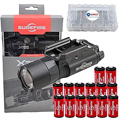 SureFire X300 Ultra X300U-B High Output 1000 Lumen LED Weapon Light with 12 Extra CR123A Batteries and 3 Lightjunction Battery Cases