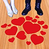 Heart Floor Decals Stickers for Father's Day Decoration Party Wedding Anniversary Classroom Floor Decals