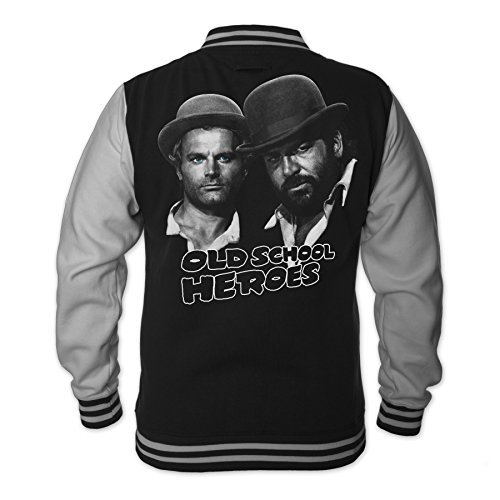 Bud Spencer Herren Old School Heroes College Jacket (schwarz) (L)