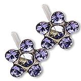 Ear Piercing Earrings Lilac Tanzanite Daisy...