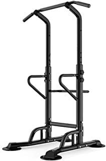 Power Tower, Pull Up Dip Station Multigym Pull Up Bar Free Standing Bench Press Bar and Weights, Adjustable Height, 300KG,...