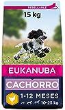 Eukanuba Alimento seco para cachorros de raza mediana, rico en pollo fresco...