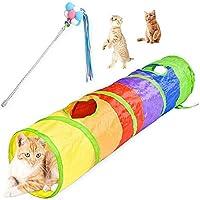 キャットのおもちゃのインタラクティブキャットのおもちゃの髪の面白い猫スタイレートレインボー猫のトンネルのための猫のための猫のトンネル (Color : Multi-colored)