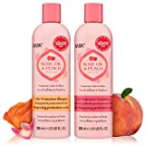 HASK ROSE OIL + PEACH Shampoo and Conditioner Set Color Protecting - Color safe, gluten-free,...