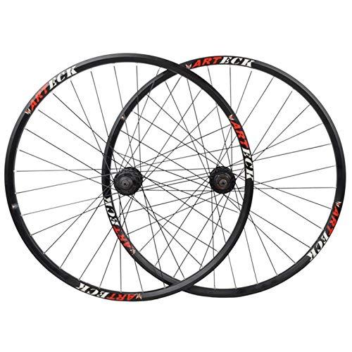 ZCXBHD 27,5/29 Pulgadas Bicicleta De Montaña Freno De Disco Juego De Ruedas Cubo Aleación De Aluminio Pared Doble Borde Liberación Rápida 8/9/10 Velocidad (Size : 27.5in)