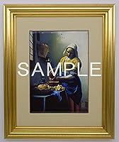大塚国際美術館 陶板 額装品A 「牛乳を注ぐ女」 フェルメール、ヤン 絵 プレート