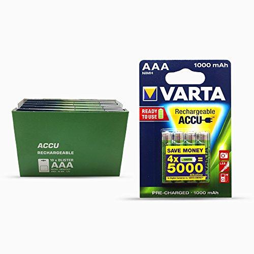 Varta AAA rechargeable Accu 1.2V,1000 mAH, (Lot de 10X4)