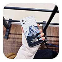For iPhone 11携帯電話ケースに適したFor iPhone 12北雪山3DステレオFor iPhone 11ProMax保護ソフトカバー-白-iphoneXSMax