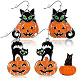2 Pairs Halloween Theme Earring Halloween...