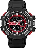 TIMEX Timex Analogue - Digital Men's Watch (Black Dial Black Colored Strap)