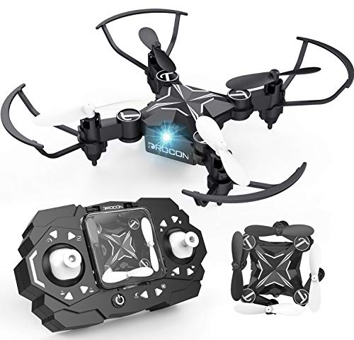 DROCON Mini Drones for Kids, Portable Pocket Quadcopter with Altitude Hold Mode, One-Key Take-Off & Landing, 3D Flips and Headless Mode, Easy to Fly for Beginners
