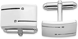 925 Sterling Silver Rectangle Cubic Zirconia Cz Cuff Links Mens Cufflinks Man Link Fine Jewelry Gift For Dad Mens For Him