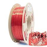 Reprapper Filamento Silk PLA 1.75 (± 0.03 mm) per Stampante 3D, PLA dall'aspetto Setoso Brillante, Rosso