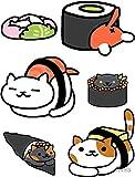 Neko Atsume - Sticker Decal - Decorative Sticker - Scrapebooks, Cars, Windows, Laptops, Waterbottles