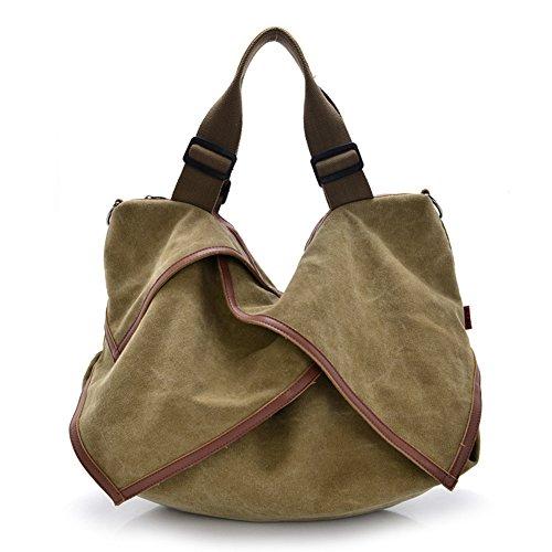 professionnel comparateur DRF sac en toile «feuille» avec bandoulière amovible pour faire du shopping # BG-135 (kaki) choix