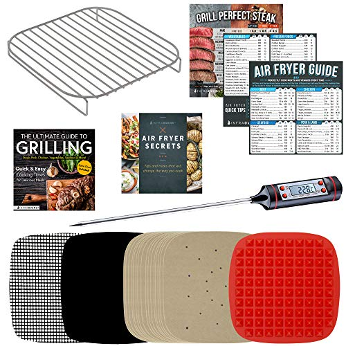 Air Fryer Parchment Paper Accessories Compatible With Dash, Cosori, Costzon, Emeril Lagasse, Paula Deen, NuWave, Power Airfryer Oven, Yedi, Secura, Best Choice Products, Chefman, Willsence +More