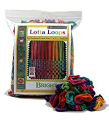 "Harrisville 7-inch bright Lotta loops kit makes 8 beautiful 6"" x 6"" potholders Hand weaving is a time-honored, educational and fun activity for children and adults alike Preserves the new Hampshire tradition of handmade textiles produced exclusively ..."