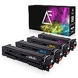 4 Alphafax Toner kompatibel zu HP CF540X CF541X CF542X CF543X für Color Laserjet Pro M-280nw M-281fdn M-281fdw M254nw M254dw - 203X