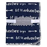 Wendy Bellissimo Super Soft Plush Baby Blanket (30x40) - Adventure in Navy + White