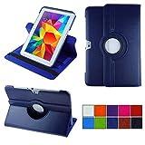 COOVY® 2.0 Cover für Samsung Galaxy Note 10.1 GT-N8000 GT-N8010 GT-N8020 Rotation 360° Smart Hülle Tasche Etui Hülle Schutz Ständer | dunkelblau