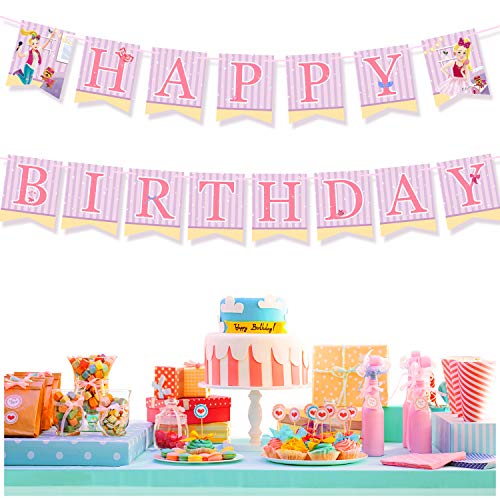 JOJO Siwa Happy Birthday Party Banner (Pre-assembled) – JOJO and Bow Bow Theme Party Supplies Decorations for Kids Girls Baby Shower Wall Door Outdoor Indoor Garden Decor