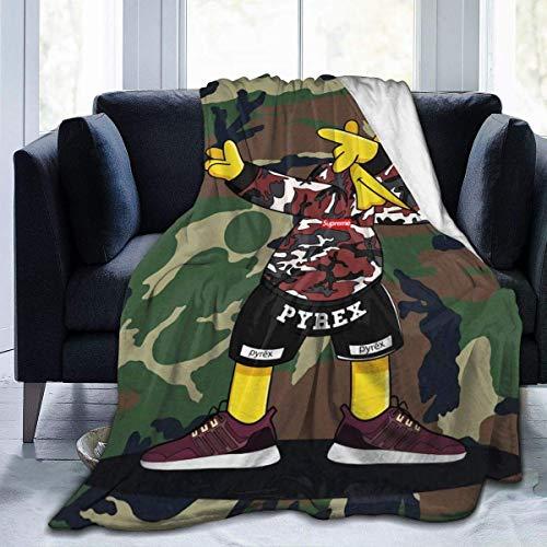Nat Abra Die Simpsons als Sneakerheads in Yeezy Boost-Decke Flanell-Mikrofaser-Überwurfdecken Superweicher Fuzzy Geeignet für Bettsofa-Reisen Four Seasons Blanket-50 'x40'