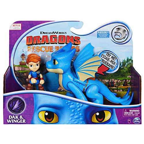 Dak & Winger DreamWorks Dragons Rescue Riders Figure & Dragon