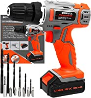 Terratek 13Pc Cordless Drill Driver 18V/20V-Max Lithium-Ion Combi Drill, Electric Screwdriver, Accessory Kit, LED Work...