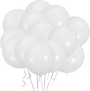 White Balloons 100pcs 10 Inches Latex Party Balloons for Wedding Graduation Birthday Christmas Baby Shower Party Decoration