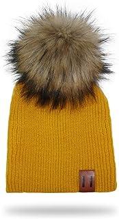 SHXLYN Kids Cap Winter Knit Pompom Hat for Boys Crochet Girls Hats Children's Hats Caps Bonnet Baby Hat Hats & Caps