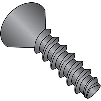 Pack of 100 Type AB Steel Sheet Metal Screw #8-18 Thread Size Pack of 100 7//16 Length 7//16 Length Black Oxide Finish Phillips Drive Undercut 82 degrees Flat Head Small Parts 0807ABPUB