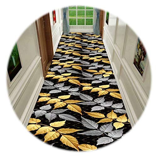 GuoWei Long Runner Rugs, Entrance Carpets With Anti Slip Backing, Cuttable Area Rugs for Kitchen Corridor Stairway, Custom Length (Color : A, Size : 0.6x7m)