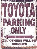 Froy Toyota Park Stil Wand Blechschild Retro Eisen Poster