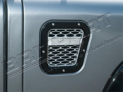 BRITPART XS AIR INTAKE GRILLE BLACK WITH SILVER MESH RIGHT COMPATIBLE WITH LAND ROVER DEFENDER, PART # DA1970