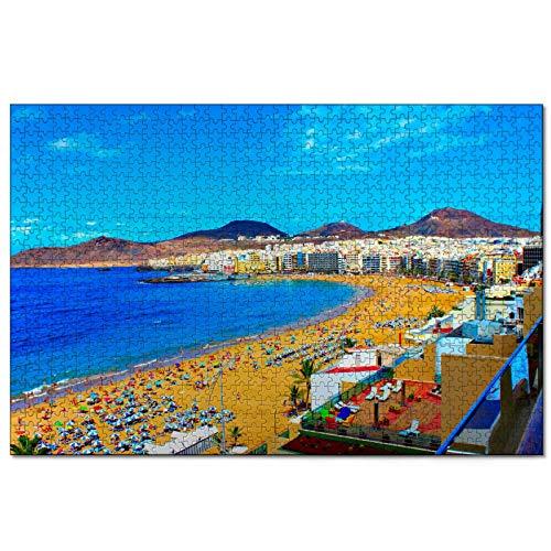 España Roque Nublo Las Palmas Gran Canaria Rompecabezas de 1000 Piezas para Adultos y familias, Regalo de Viaje de Madera, Recuerdo de 30 x 20 Pulgadas