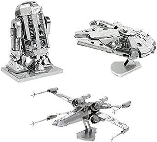 Metal Earth 3D Model Kits Star Wars Set of 3 Millennium Falcon - R2-D2 - X-Wing Starfighter