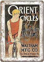 オリエントサイクルウォルサムco自転車ヴィンテージティンサイン装飾ヴィンテージ壁金属プラークカフェバー映画ギフト結婚式誕生日警告レトロ鉄の絵画