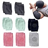 NEPAK 8 Pairs Baby Knee Pads For Crawling and safety Walking Anti Slip,Unisex Baby Toddlers Kneepads,Learn to Socks Children Short Kneepads