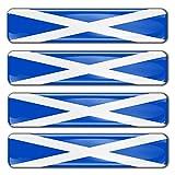 Biomar Labs® 4 pcs 3D Gel Pegatinas Bandera Nacional Scotland Escocia Silicona Adhesivo Autos Coches Motos Ciclomotores Bicicletas Ordenador Portátil F 20