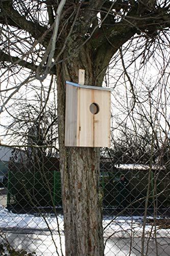 Elmato 10878 Nistkasten Starenkasten aus Holz zum Aufhängen – Natur Vogelhaus für Stare und viele andere Vögel 15x13x28cm
