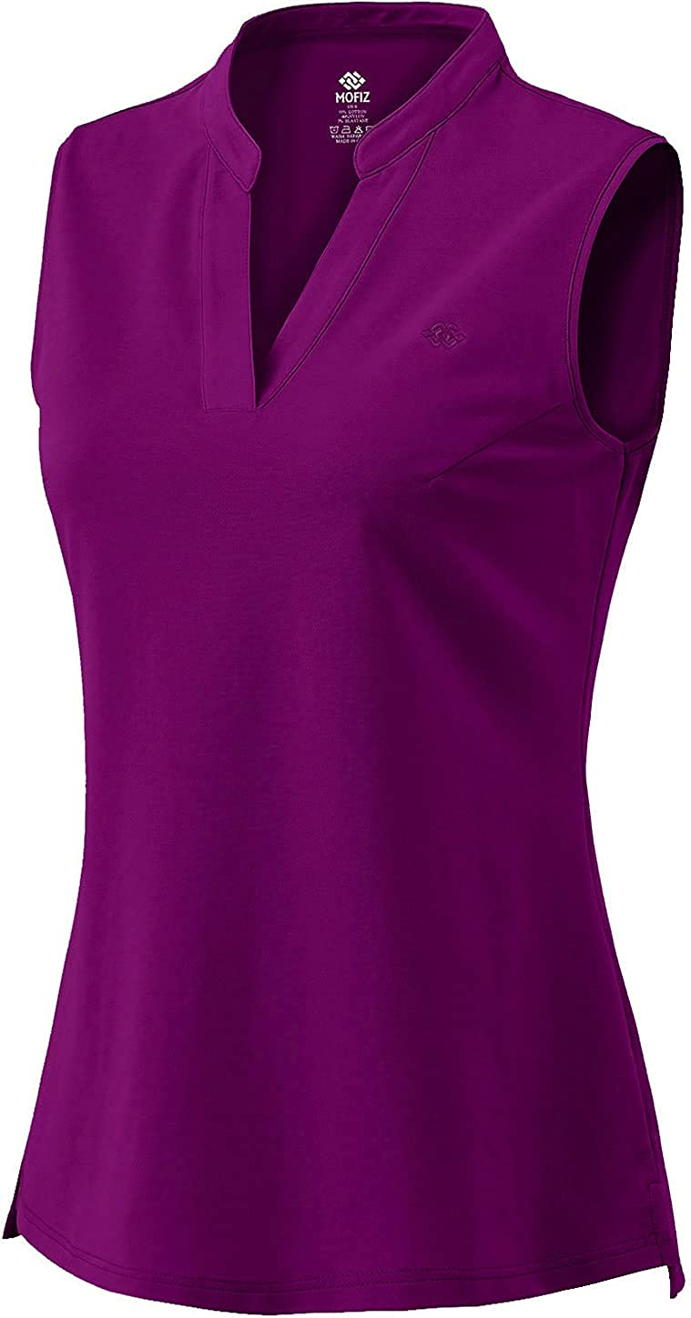 Women Golf Polo Shirts Sleeveless Ladies Tops Protection UV Max 80% OFF Fort Worth Mall Sun
