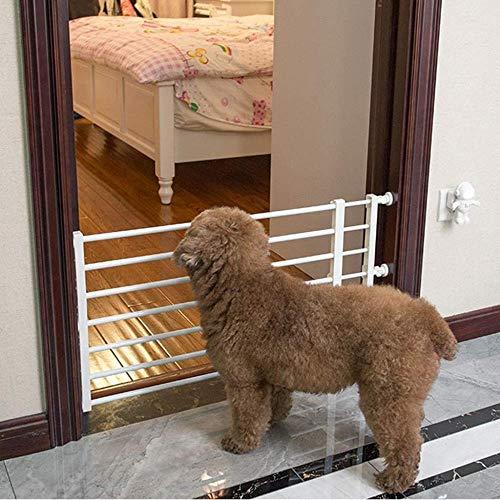 YYF Robuster Türstopper für Hunde, Zaun, Geländer, Anti-Hundetür, Schutzschiene für den Außenbereich, Baby-Zaun für Kinder, metall, Höhe: 24 cm., Length 93-160cm