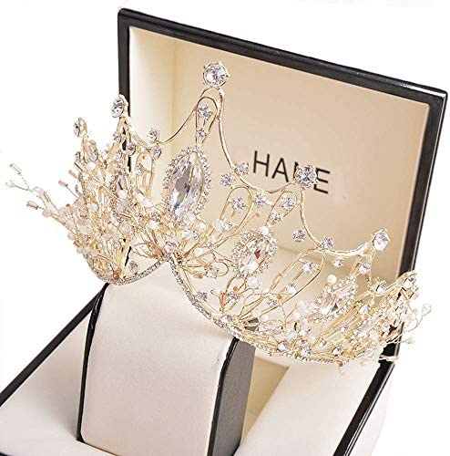 Wedding Crown for Bride Rhinestone Princess tiara for Women Prom Queen Crown Pageant Bridal product image