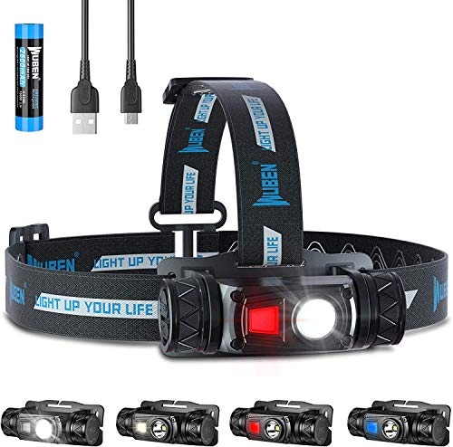 WUBEN H1 LED Head Torch, 1200 Lumens Super Bright Rechargeable Headlamp...