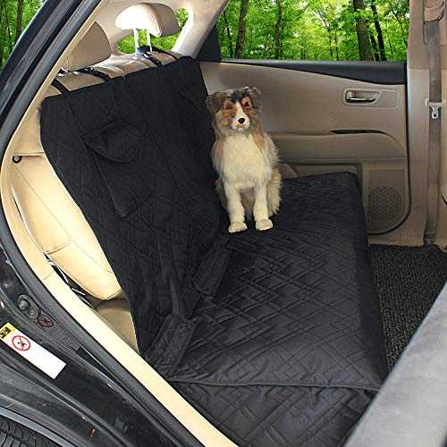 ALLVEK Dog Seat Cover - Car Seat Cover for Dogs Back Seat, Waterproof Universal Pet Seat Cover for Cars SUV Trucks (Black)
