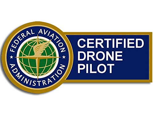 American Vinyl FAA Certified Drone Pilot Sticker (Logo Federal Aviation UAV Aircraft dept usdot)