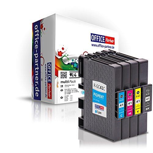 MultiPack 4 Cartucce d'inchiostro compatibili con il circuito integrato per Ricoh GC 41, per esempio, Lanier SG 3100/3110 DN / 3110 DNW / 7100 dn / Gestetner SG 3100/3110 DN / 3110 DNW / Gestetner SG K-3100 dn / NRG Aficio 3100 Series SG / SG 3110 DN / SG 3110 DNW / NRG SG 3100/3110 DN / 3110 DNW / NRG SG K-3100 dn / Ricoh Aficio 3100 Series SG / SG 3100 SNW / SG 3110 dn / SG 3110 dnw / SG 3110 n / SG 3110 SFNw / SG 3120 B SF / SG 3120 B SFN / SG 3120 B SFNw / SG 7100 dn / SG K 3100 dn