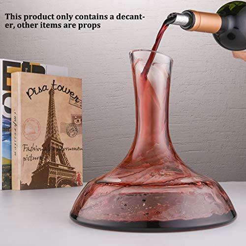 ZRWZZ Handgemaakte Crystal Decanter Eiffel Toren Stijl Rode Wijn Opslag Huishoudelijke Creatieve Glas Wijn Dispenser Set