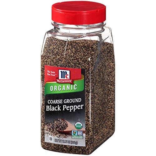 McCormick Coarse Ground Black Pepper (Organic, Non-GMO, Kosher), 12.75 oz